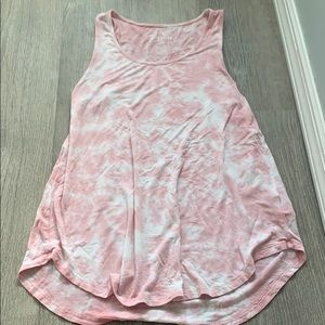 American eagle pink tie-dyed tank top